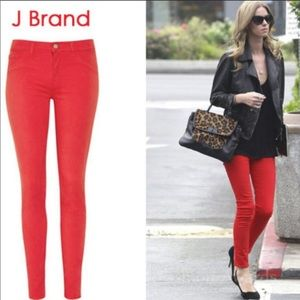 JBRAND skinny pant in Lipstick